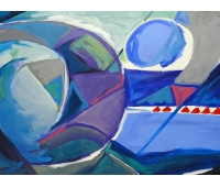 Abstrato Azul - A/S/T 80 x 120